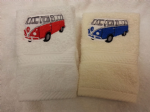 VW CAMPER VAN PERSONALISED FACE CLOTH FLANNEL